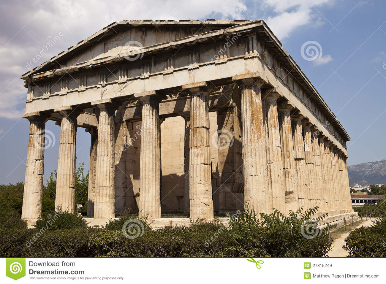 Temple Of Hephaestus In Athens Royalty Free Stock Images ...