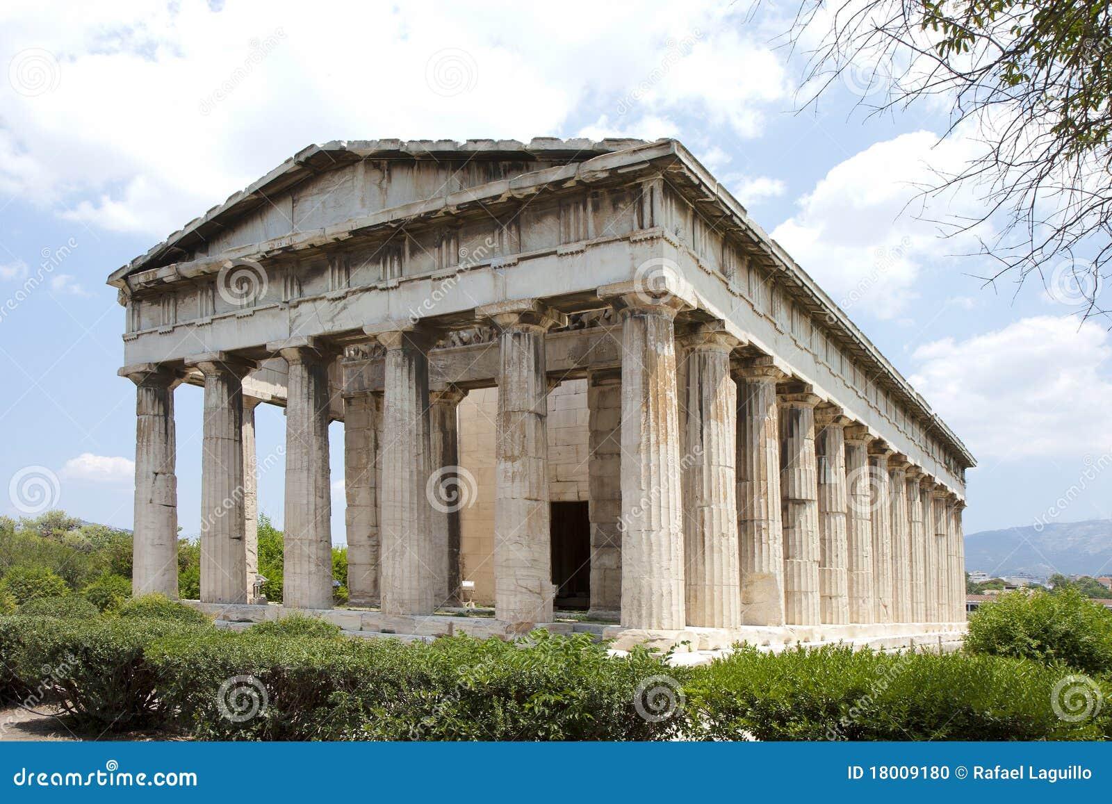 Temple Of Hephaestus. Athens, Grece. Stock Photo - Image ...