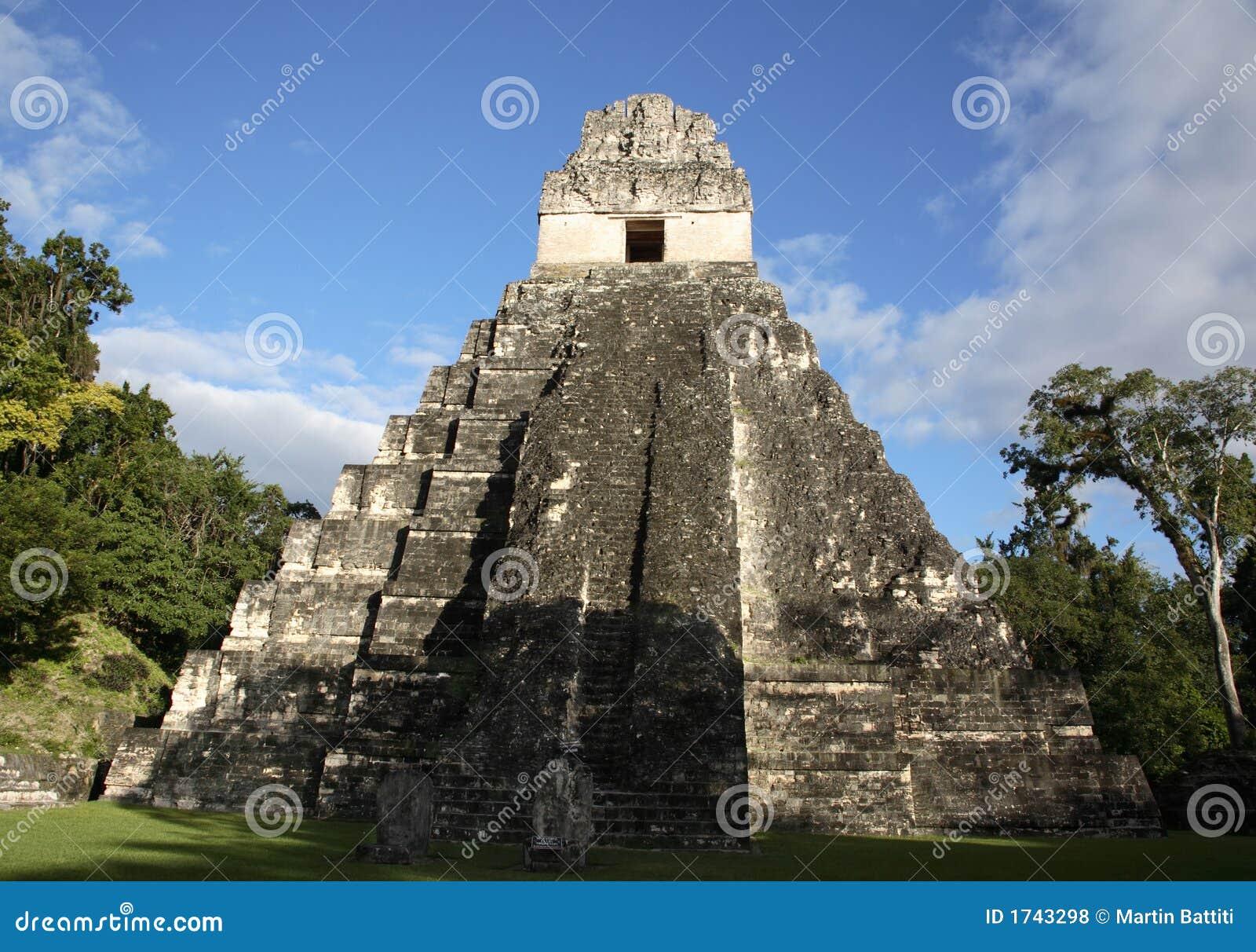 Temple II dans Tikal, Guatemala