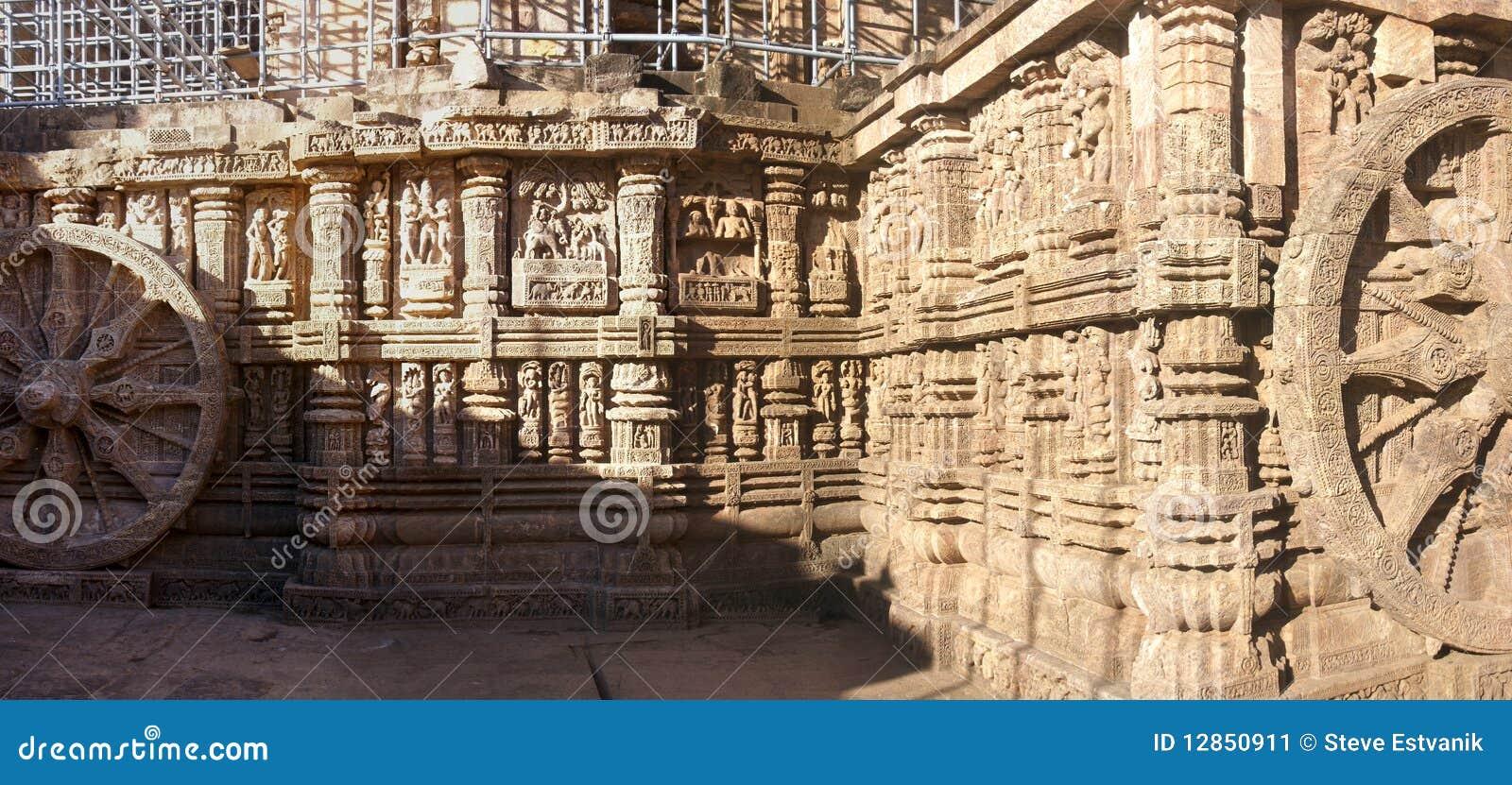 Temple indou antique conçu comme char