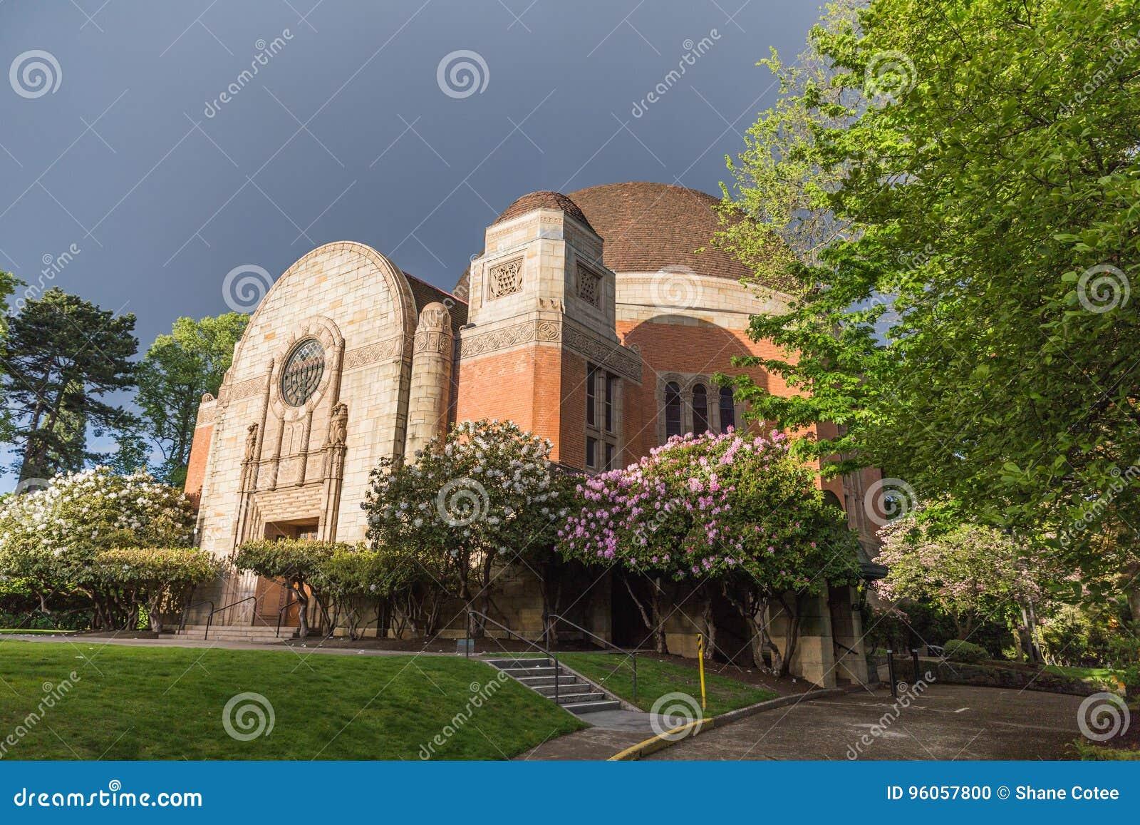 Temple juif avec le beau paysage