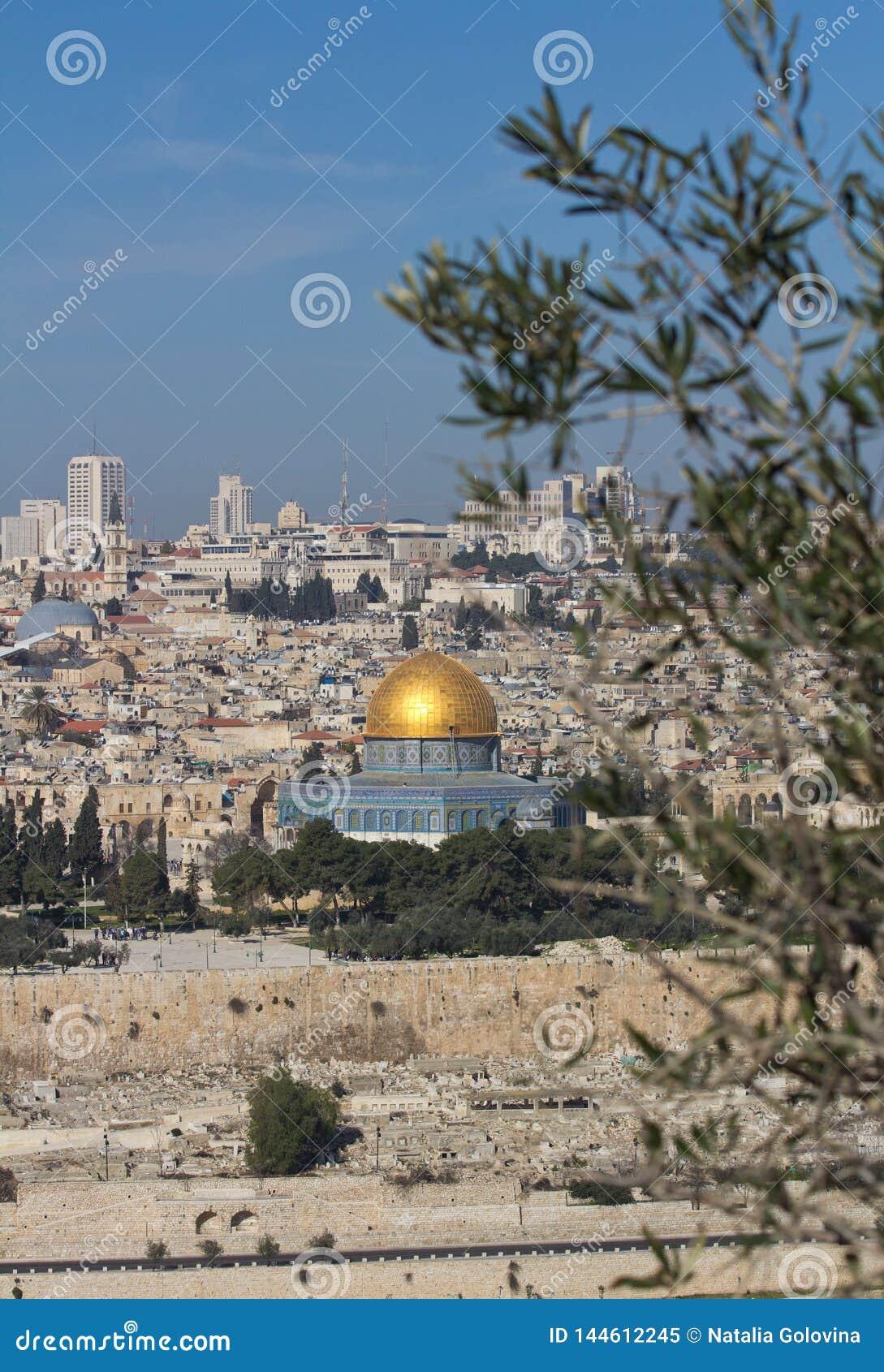 Купол утеса на Temple Mount в Иерусалиме, Израиле