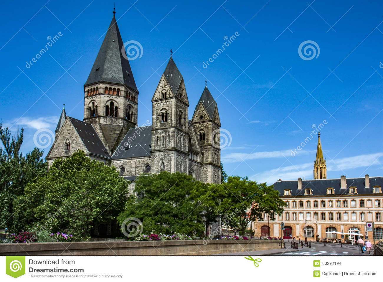 Temple neuf at metz stock photo image 60292194 for Exclusive metz