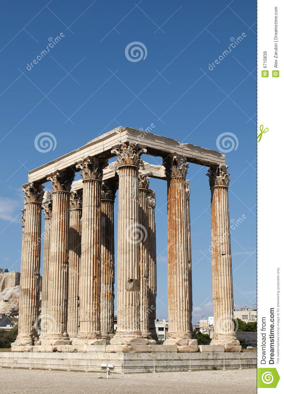 Temple Of Olympian Zeus Royalty Free Stock Images - Image ...