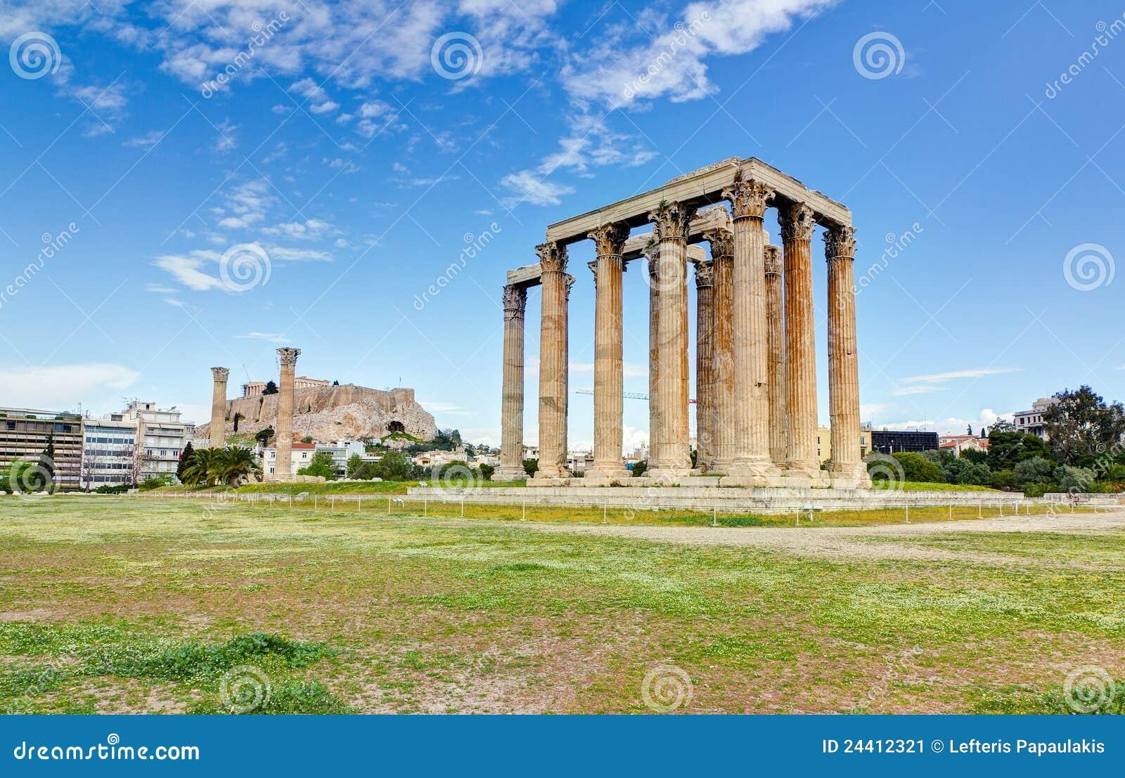 Temple of Olympian Zeus, Acropolis in background