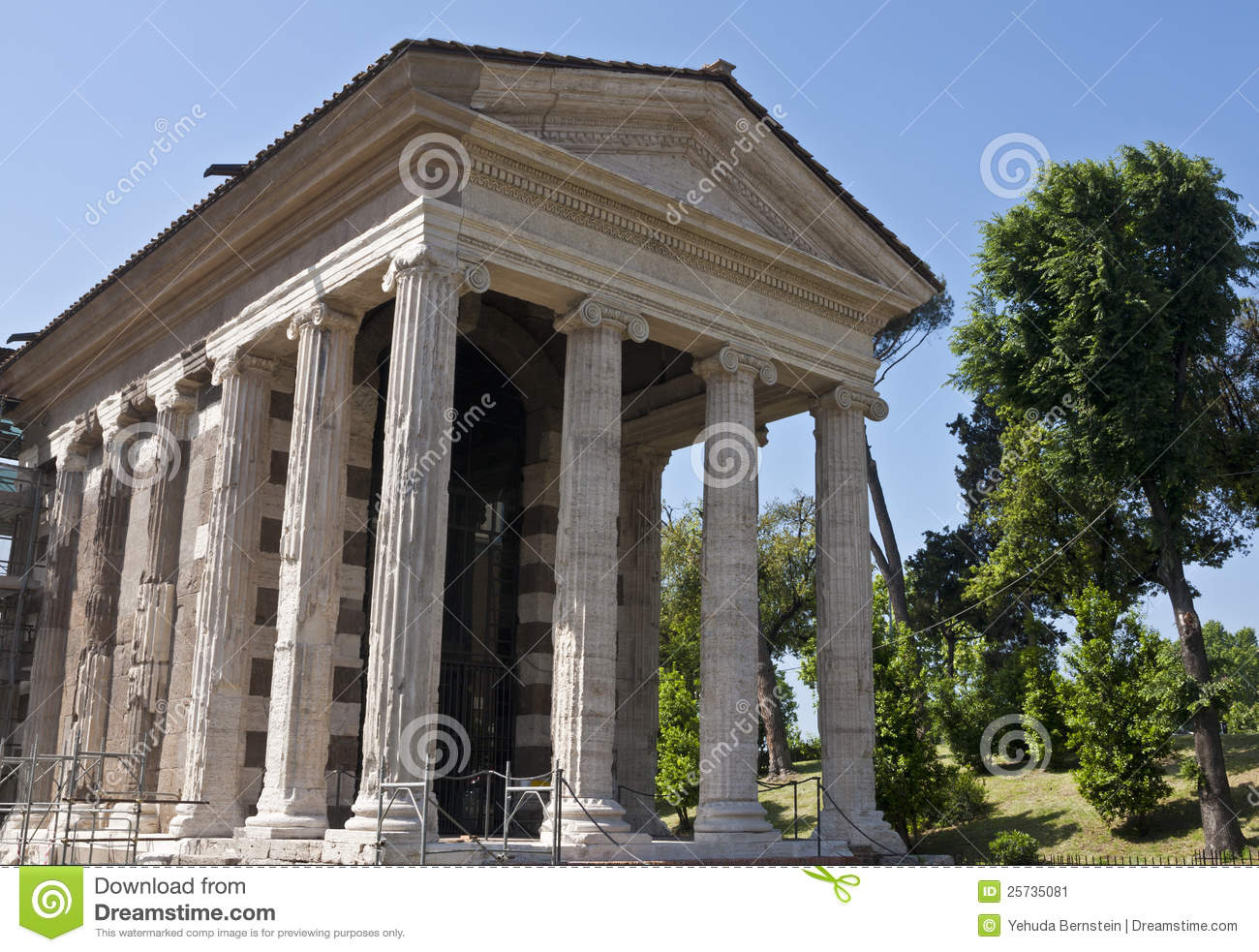 Temple of Portunus stock image. Image of building, ancient ...