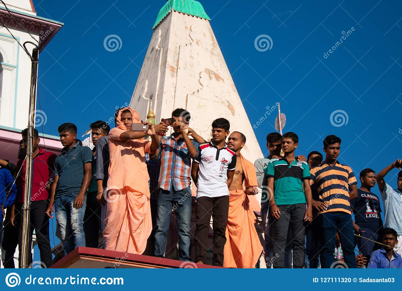 Temple Religion Of Mayapur Iskcon Editorial Image - Image of food