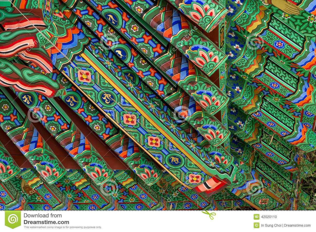 Temple roof art