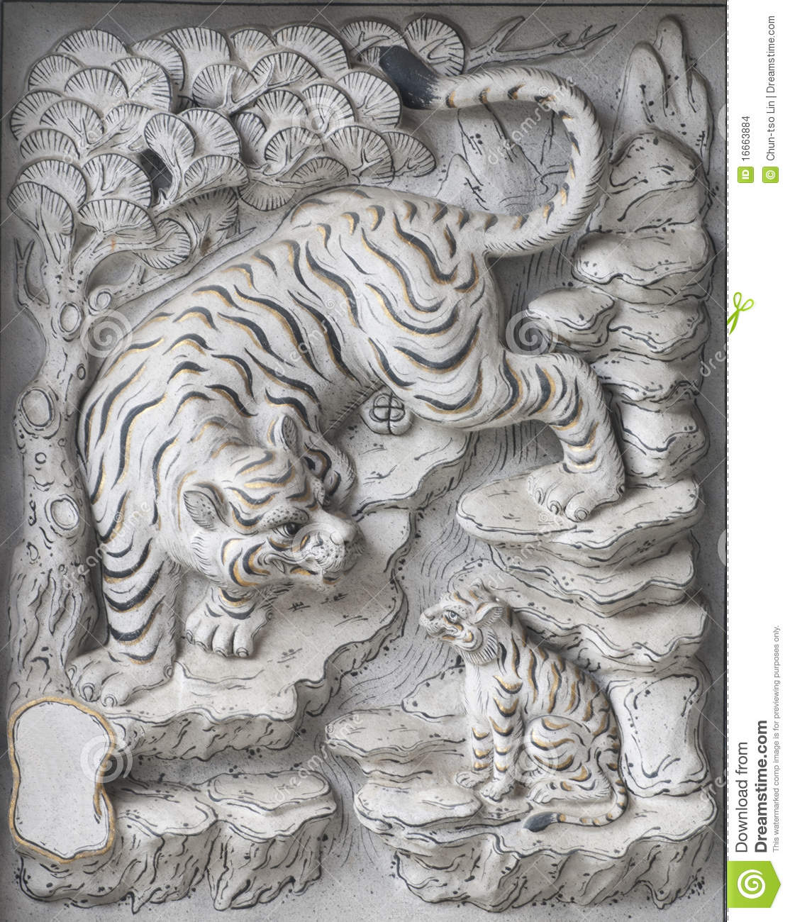 Temple stone carving stock photo image of lion oriental