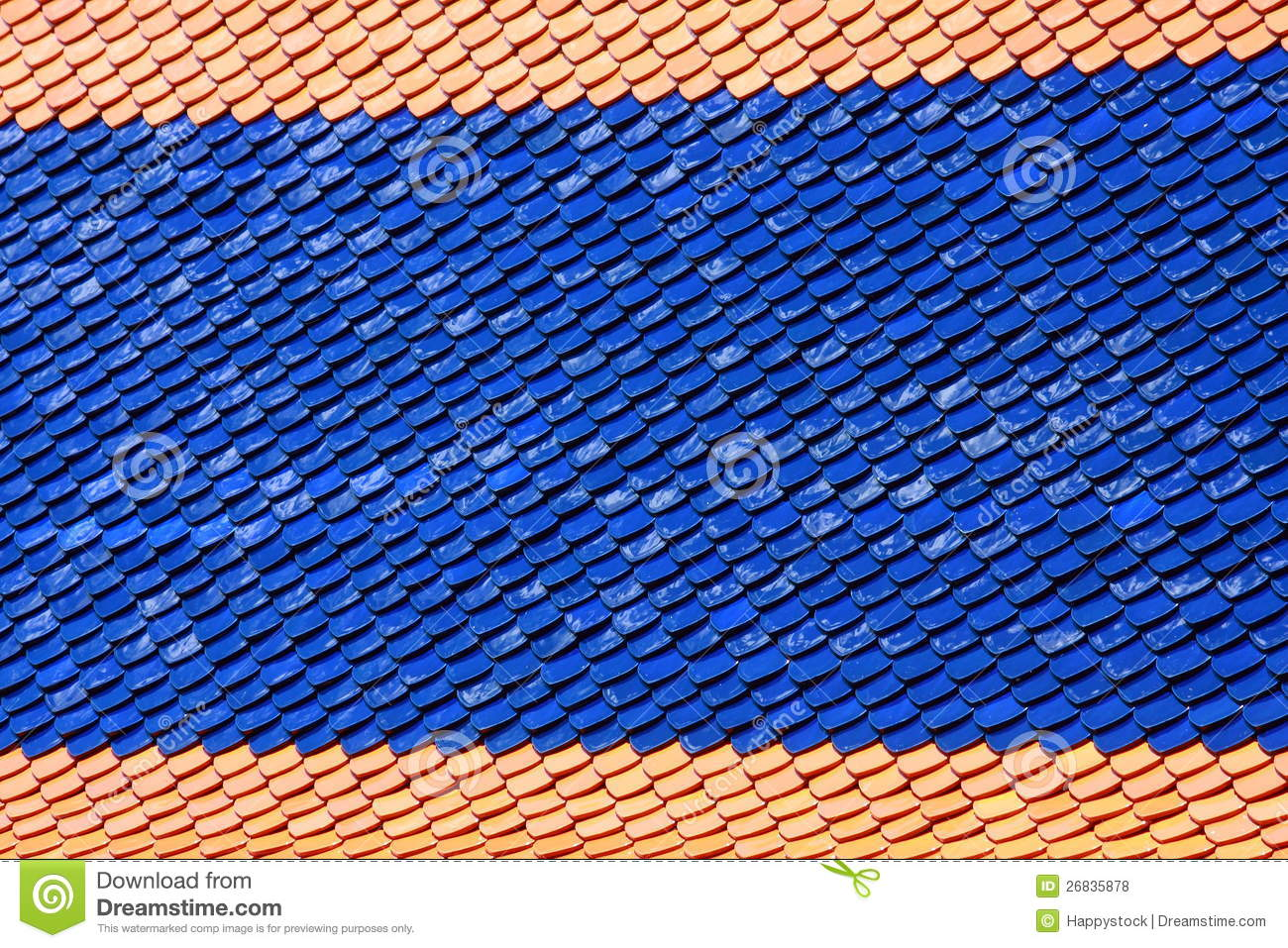 Temple tile roof pattern royalty free stock photos image for Roof tile patterns