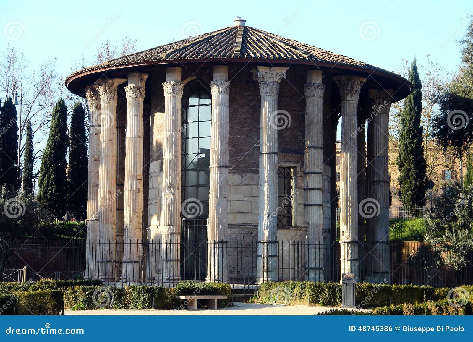 Temple Of Vesta Rome Stock Photo Image 48745386