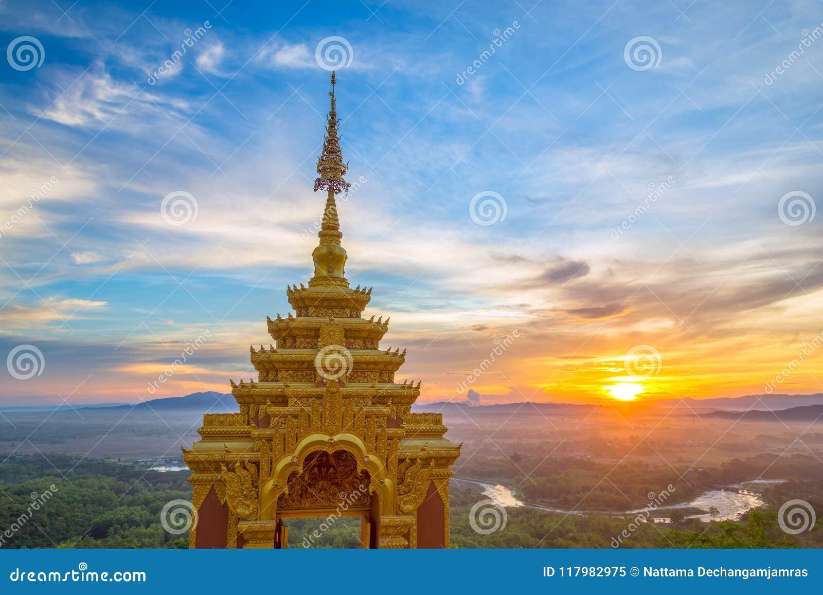 Temple,Wat Pra That Doi Pra Chan Mae Tha