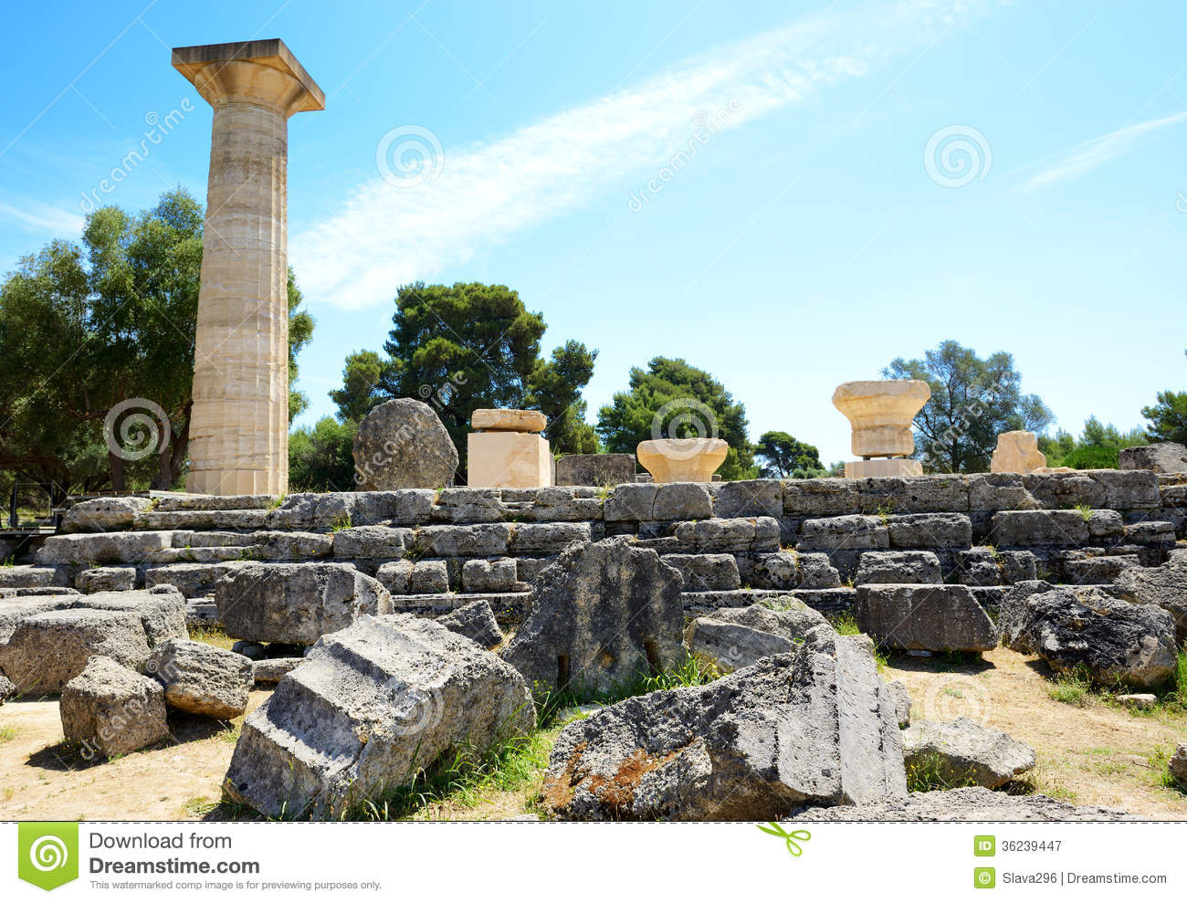 The temple of zeus ruins in ancient olympia royalty free for The olympia