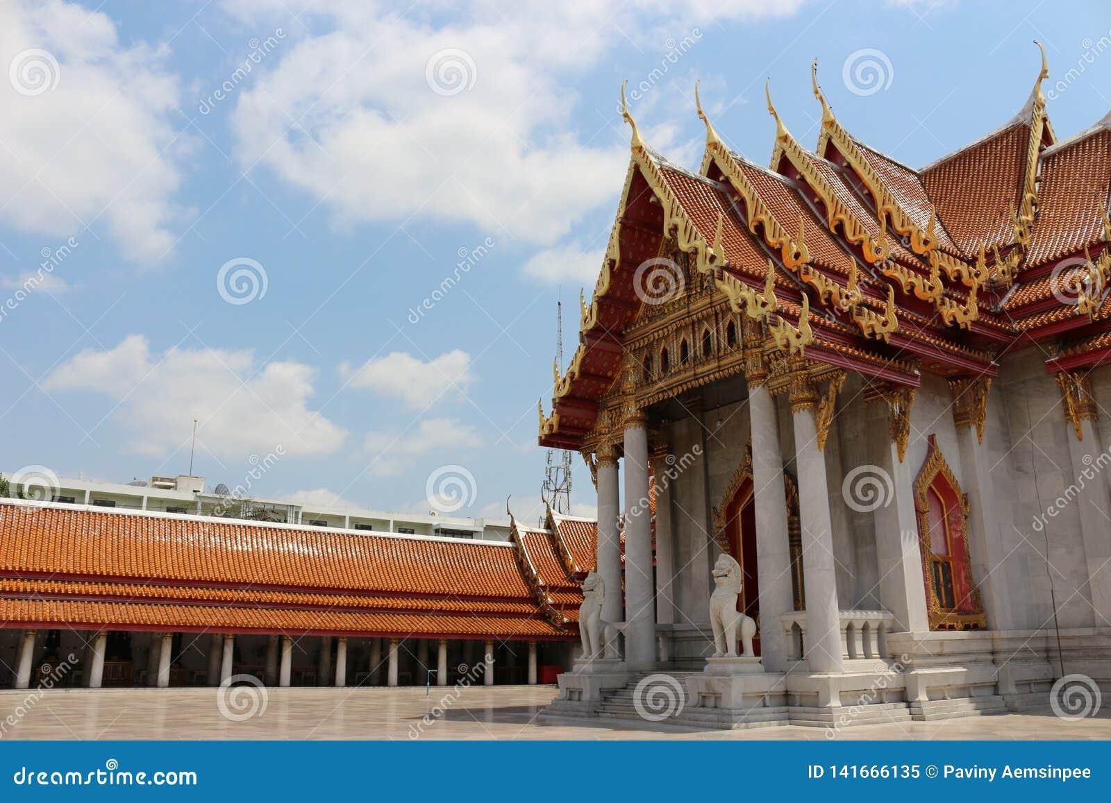 Temples à Bangkok, ciel, Thaïlande