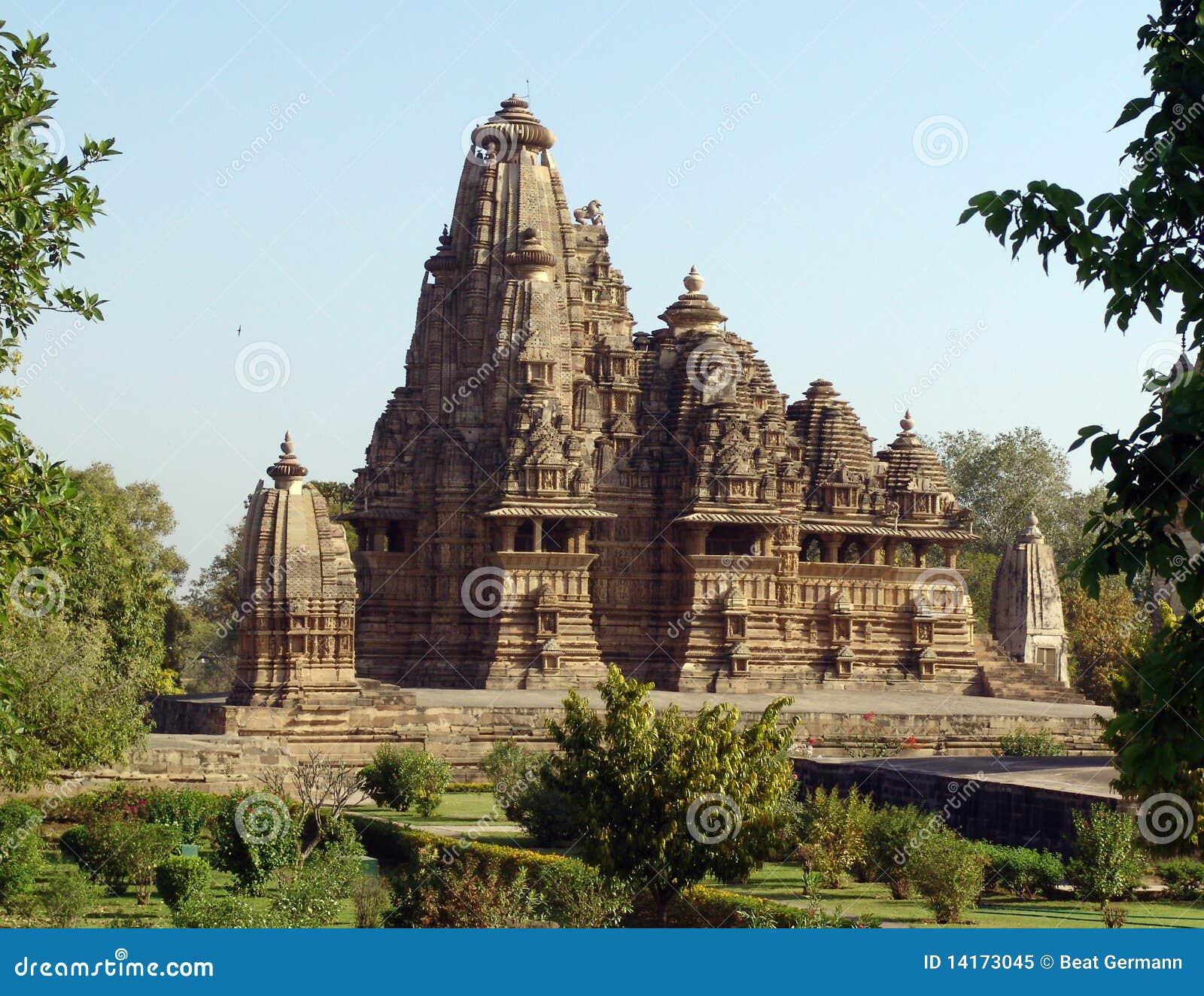 Temples chez Khajuraho, Inde