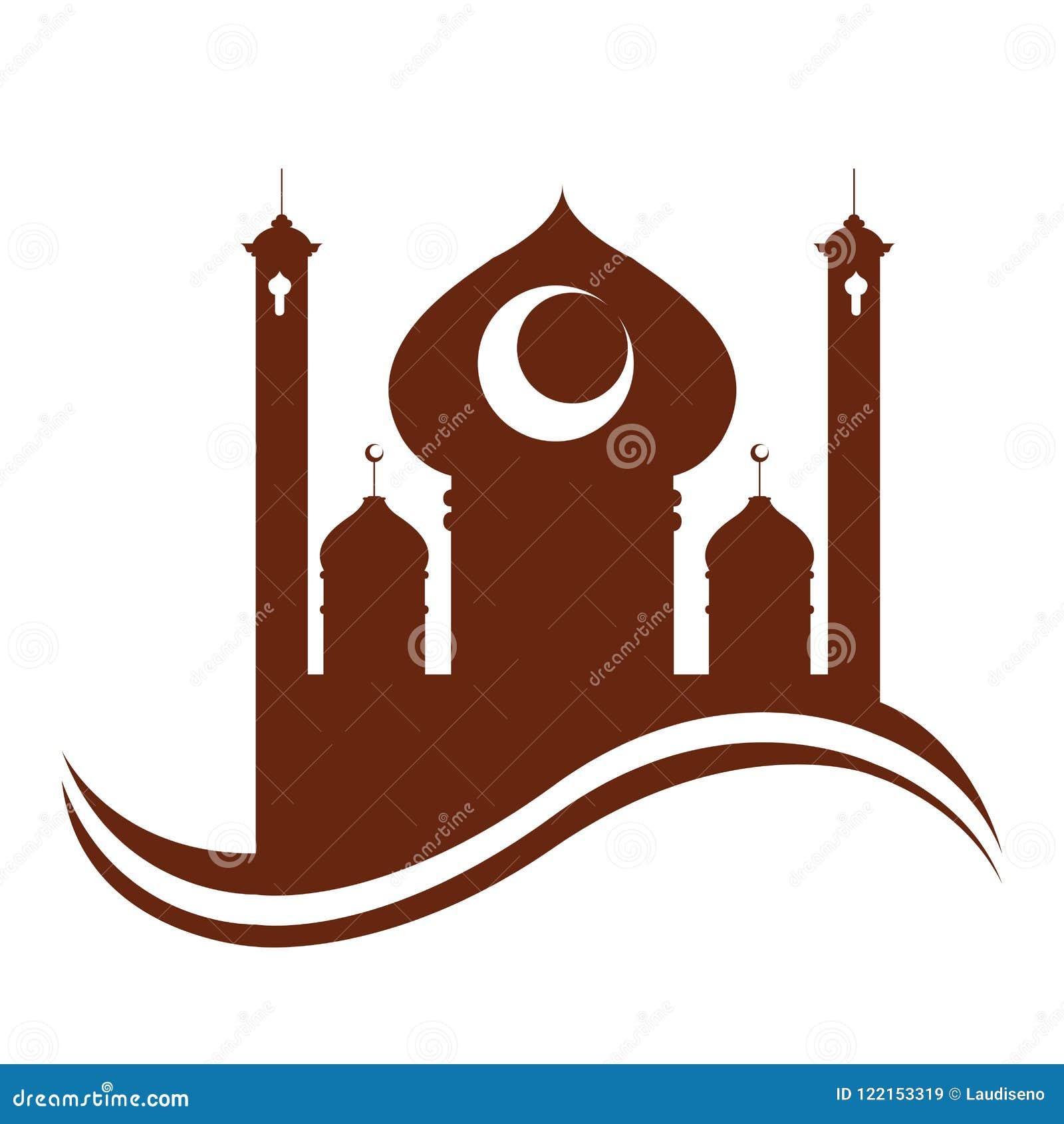 Templo árabe abstracto Ramadan Kareem