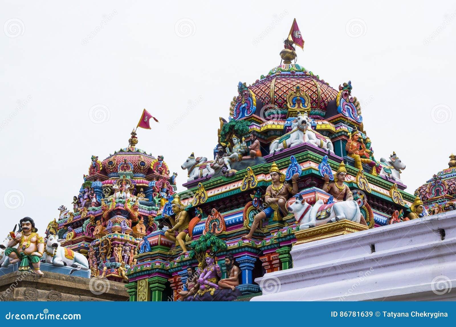 Templo antiguo de Shiva, Kapaleeswarar, Chennai, la India