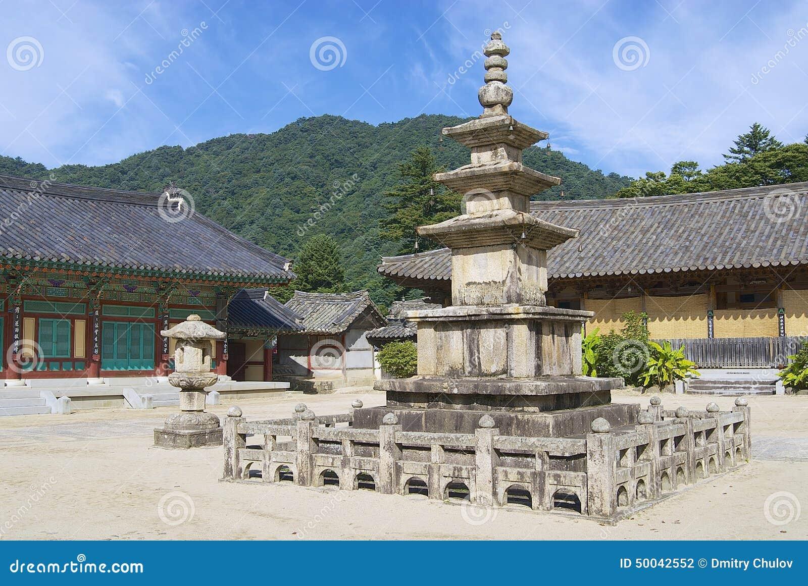 Templo bonito exterior, Coreia do Sul de Haeinsa