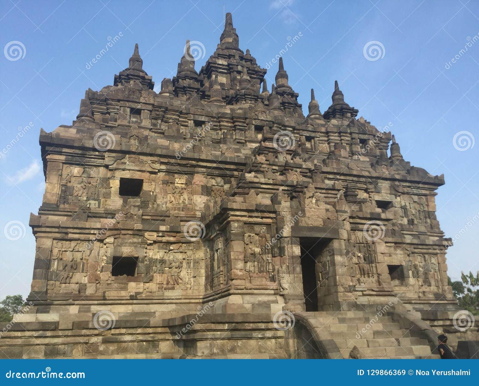 Templo budista de Plaosan Ruínas históricas Arquitetura antiga indonésia