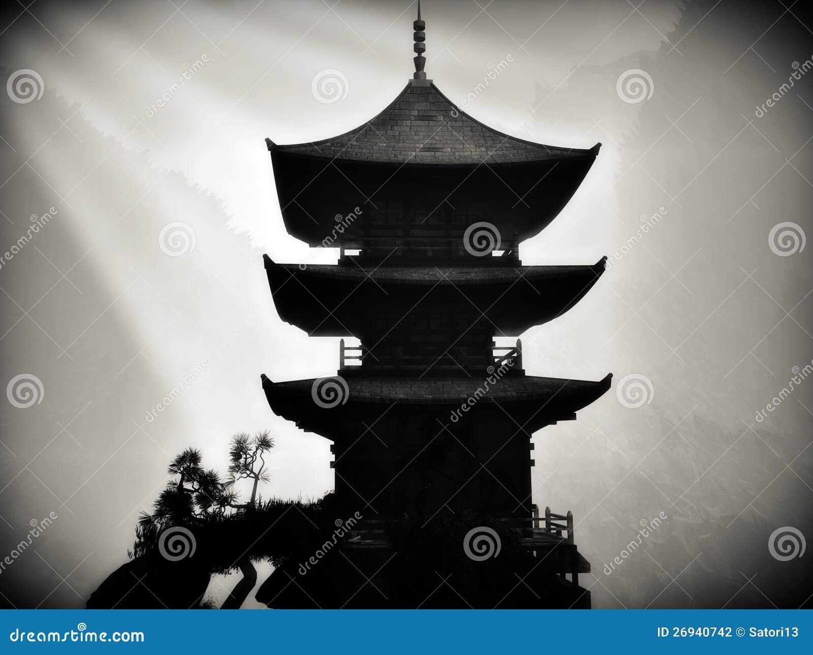 templo budista do zen ilustração stock ilustração de calmo 26940742