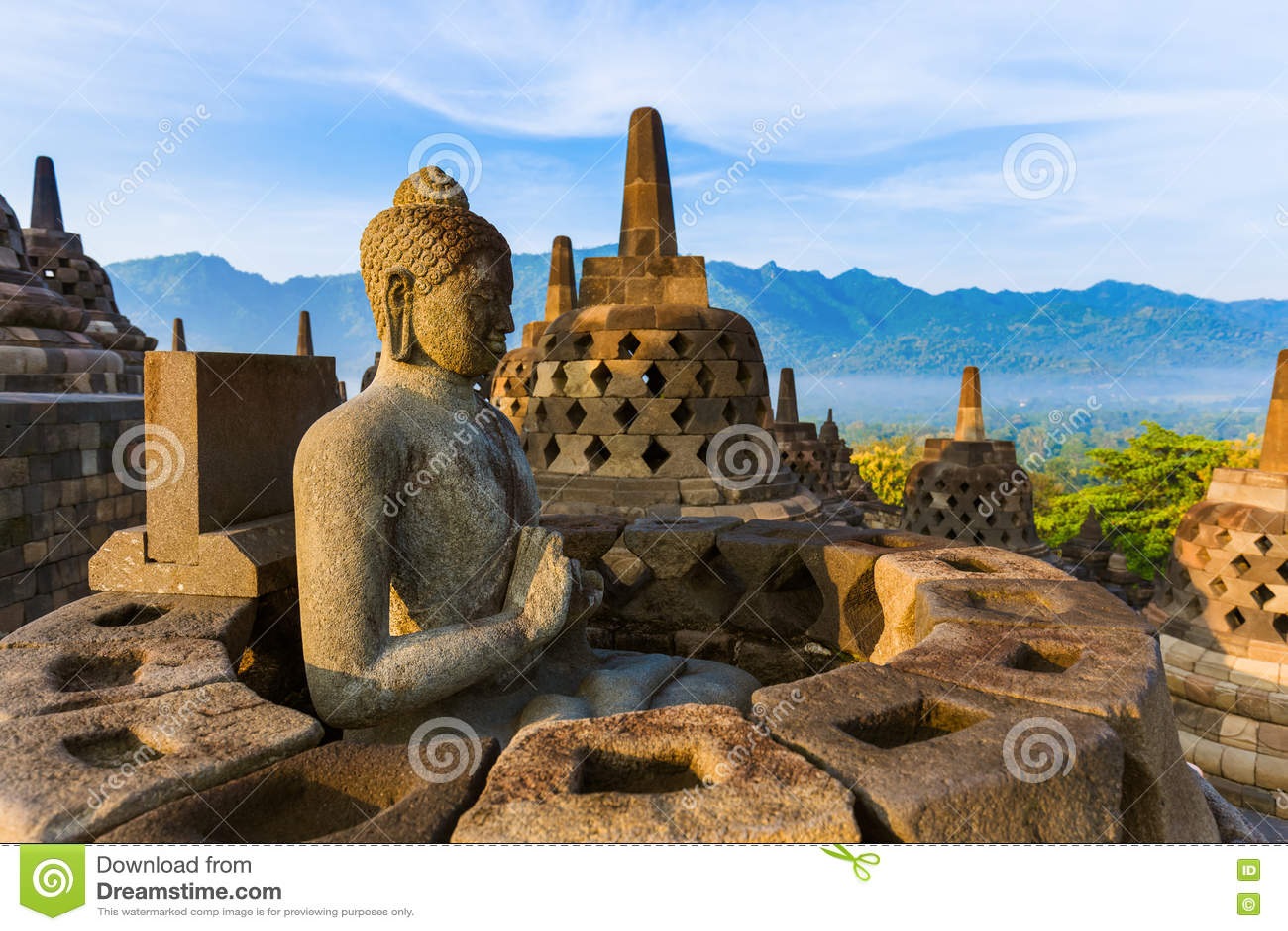 Templo de Borobudur Buddist - isla Java Indonesia