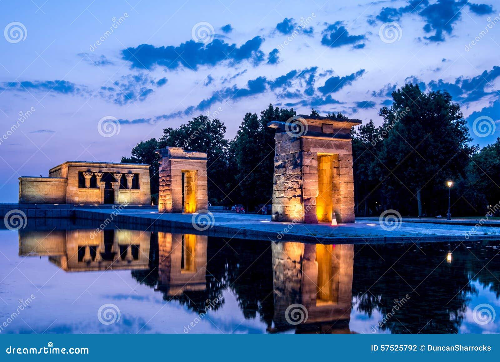 Templo de Debod, Parque del Oeste, Madrid, España