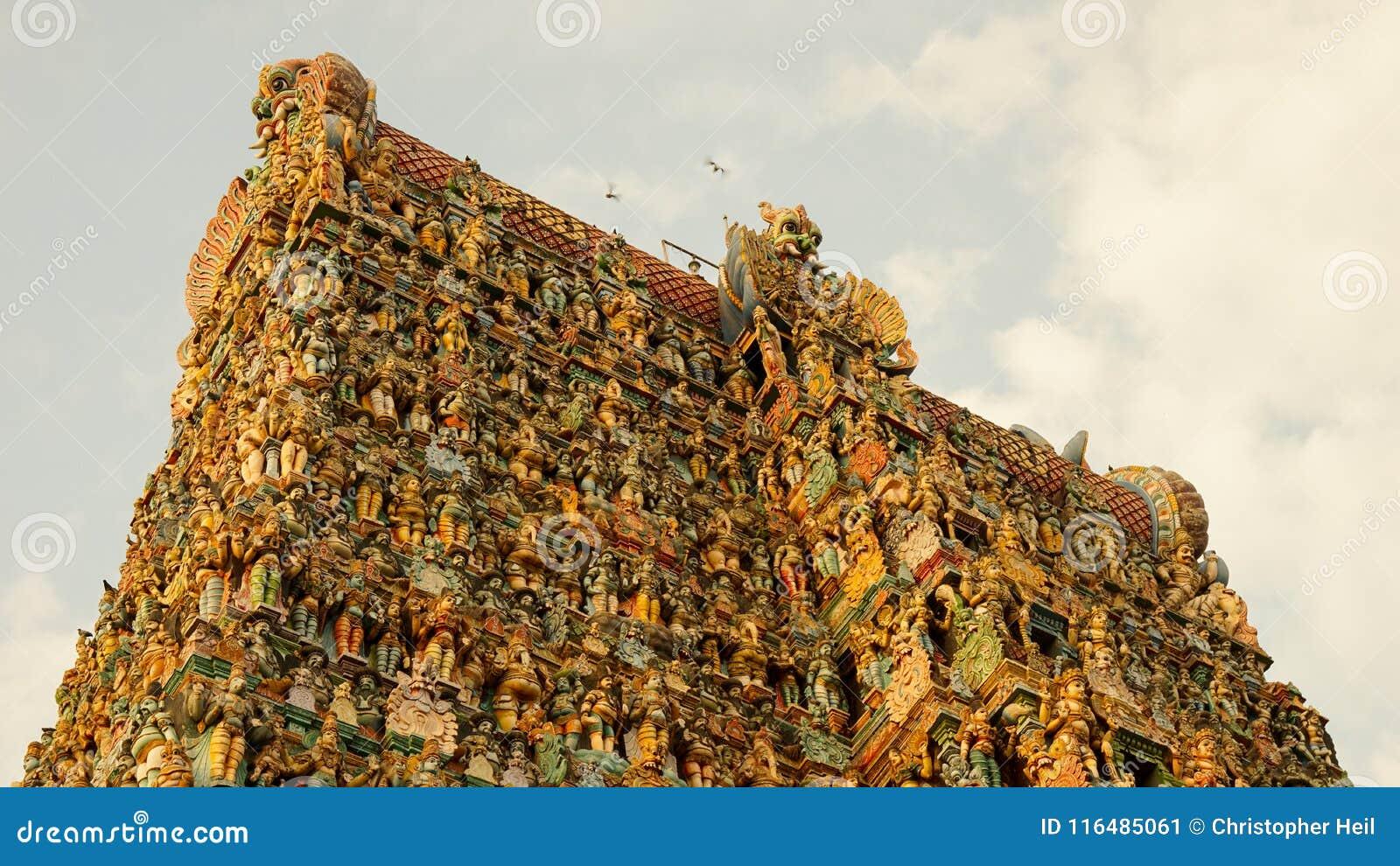 Templo de Meenakshi Amman en Madurai, la India