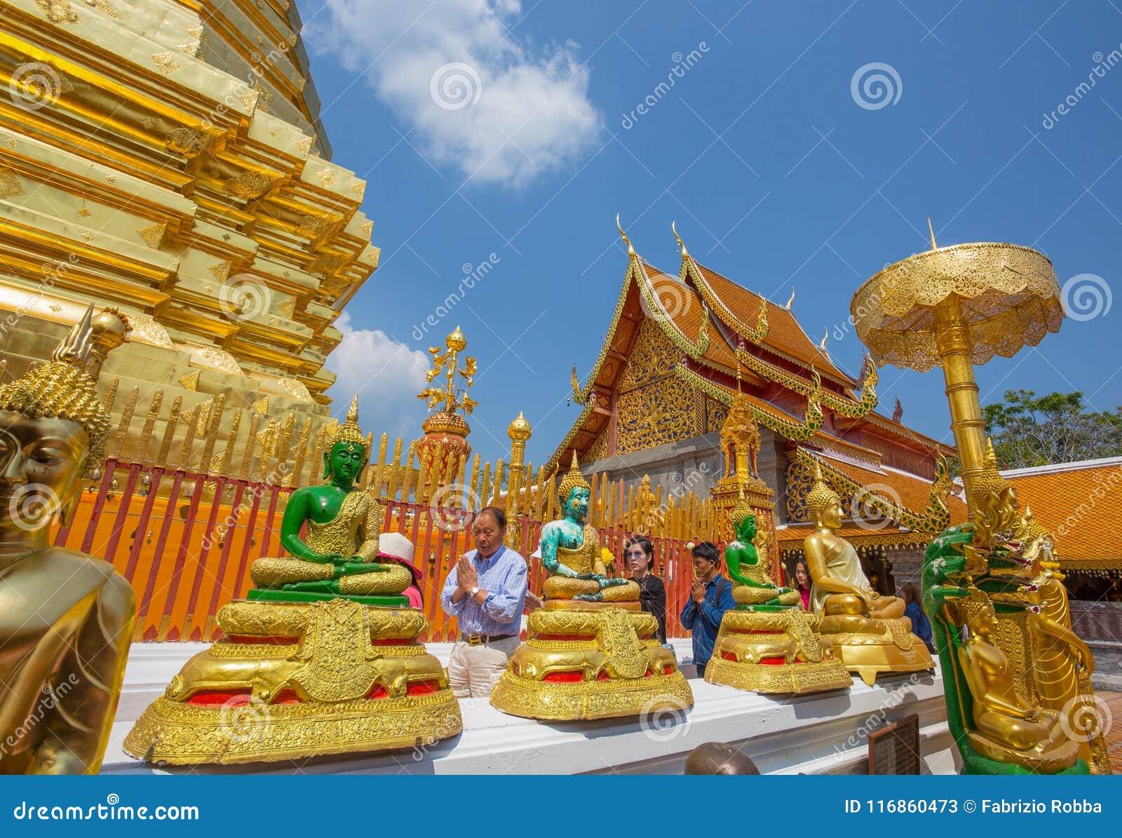 Templo de Wat Phra That Doi Suthep, Chiang Mai, Tailândia