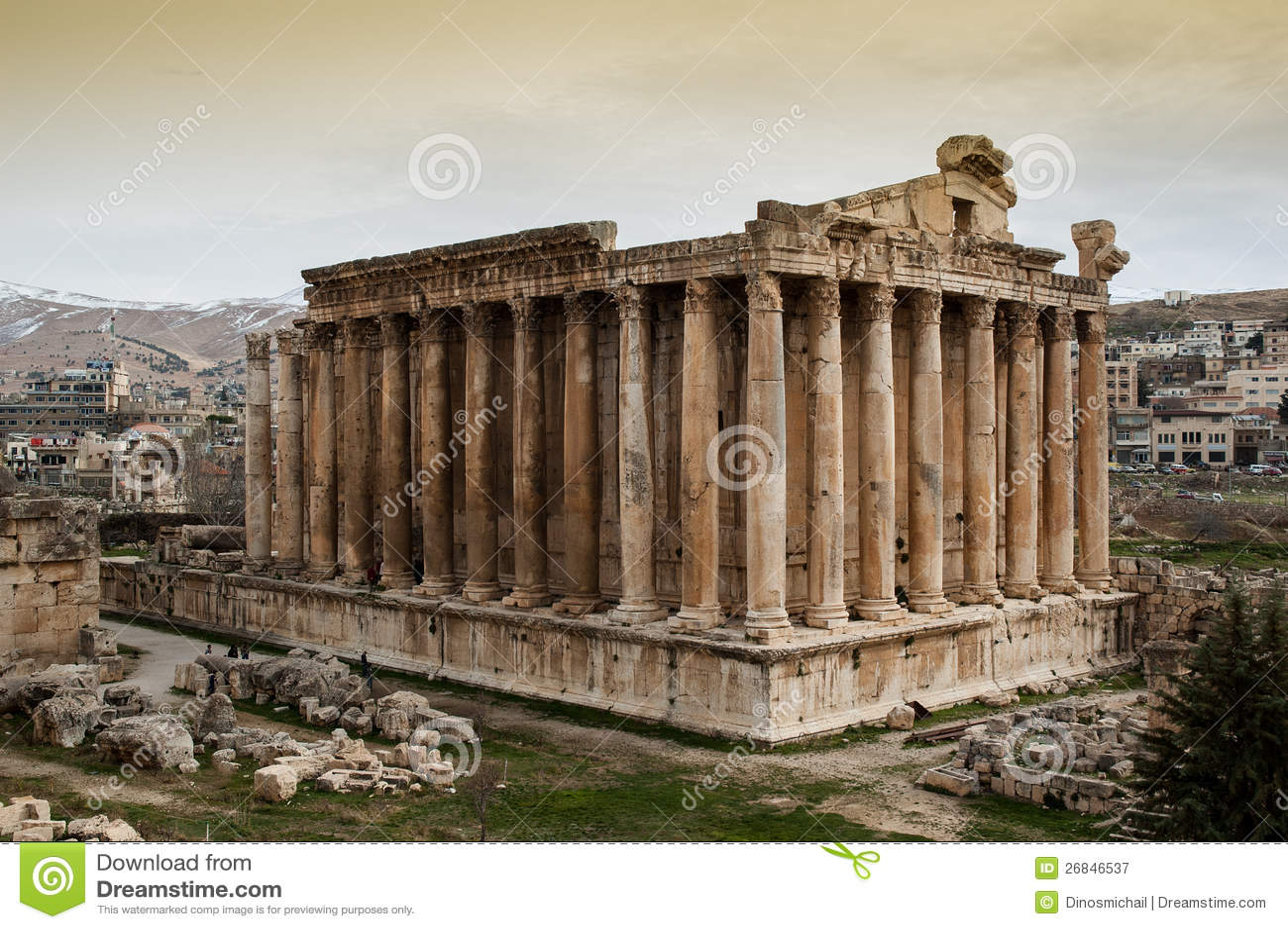 Templo do Bacchus, Baalbek