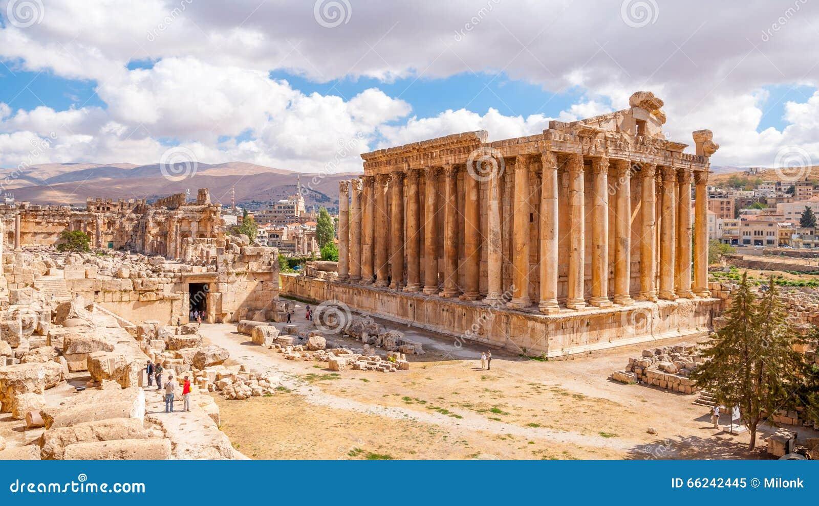 Templo do Bacchus em Baalbek, Líbano