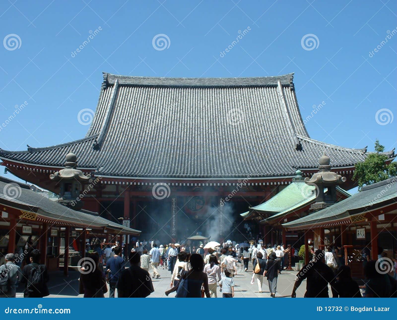Templo do budhist de Senji em Asakusa Tokyo
