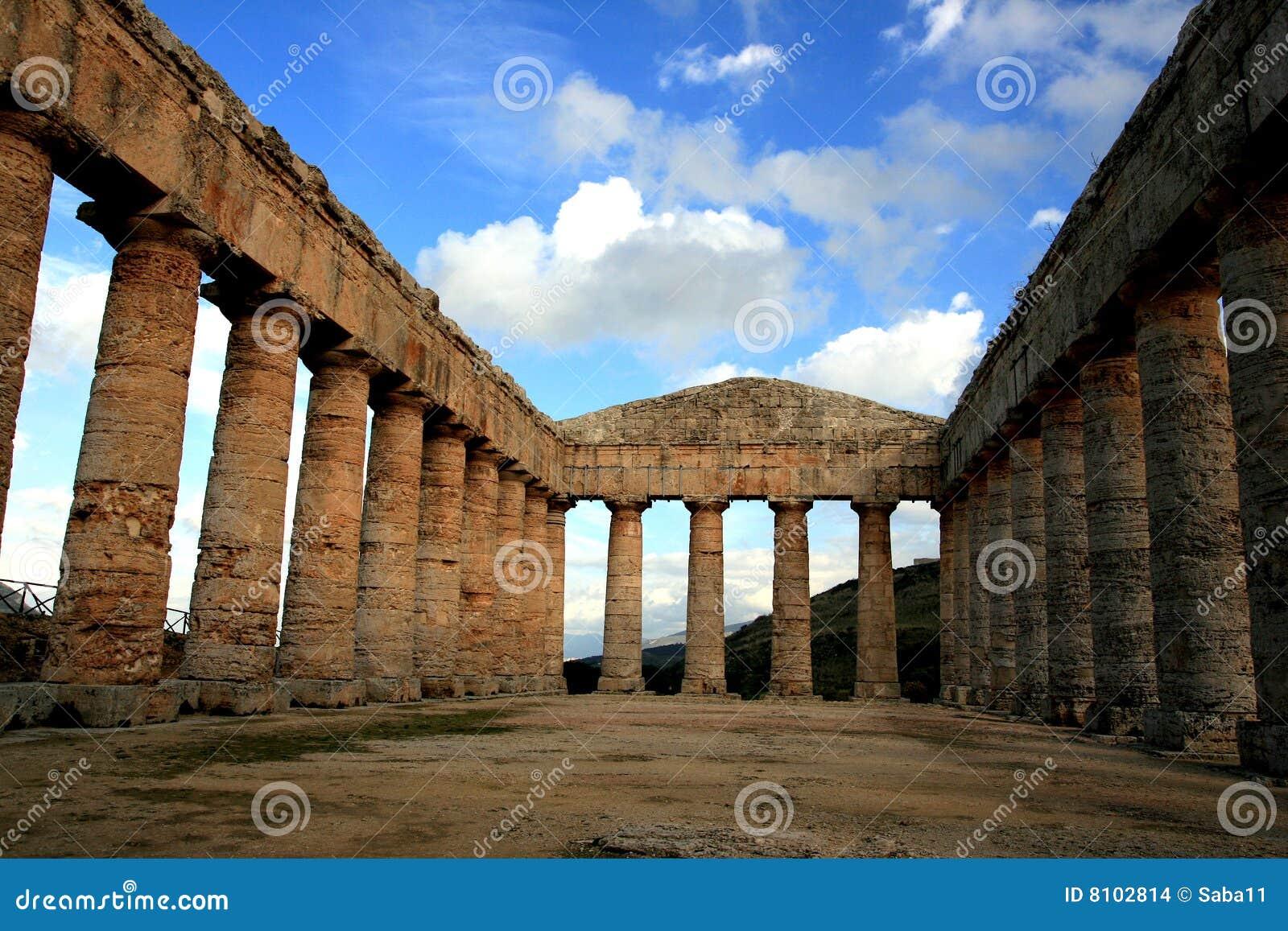 Templo do grego clássico de Segesta, Italy