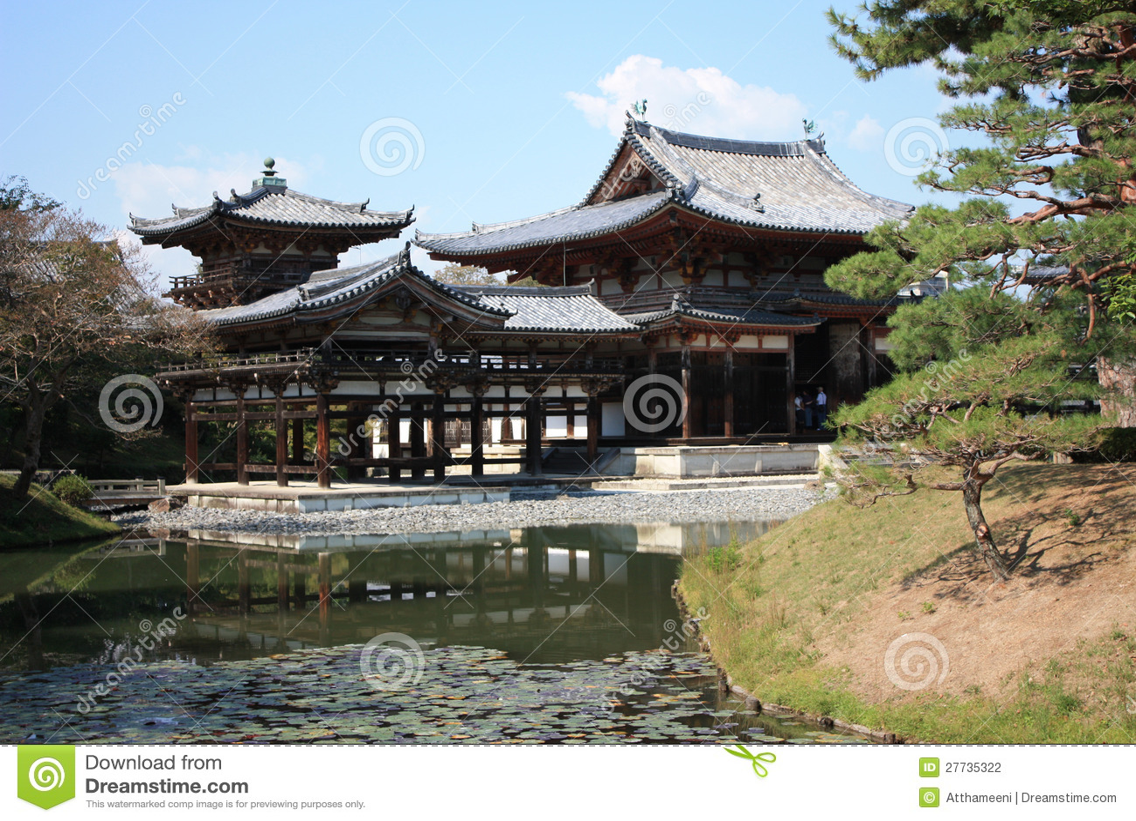 Templo do salão de Byodoin Phoenix, Uji, Kyoto Japão