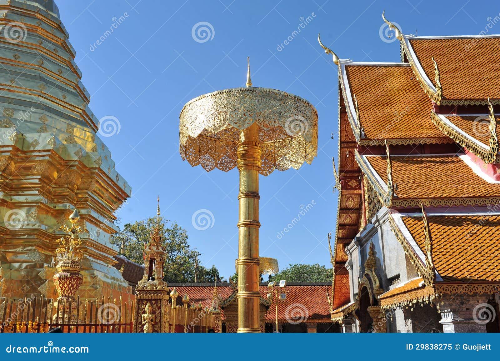 Templo do suthiep de Chiang Mai Thailand