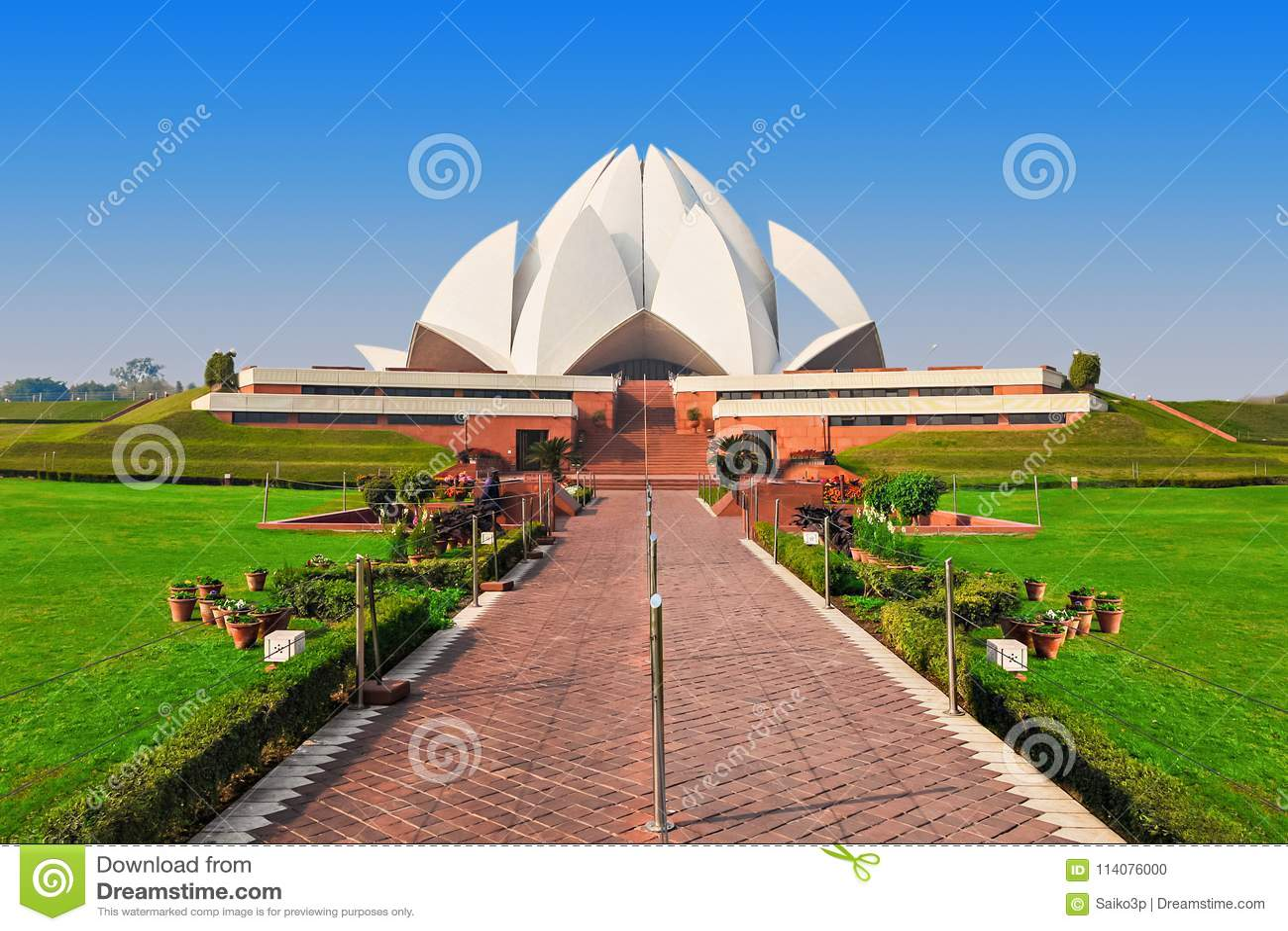 Templo dos lótus, India