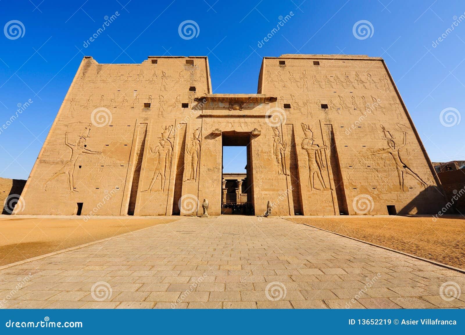 Templo en Edfu, Egipto de Horus