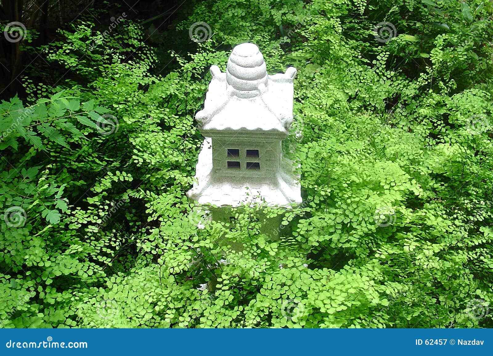 Templo en jardín