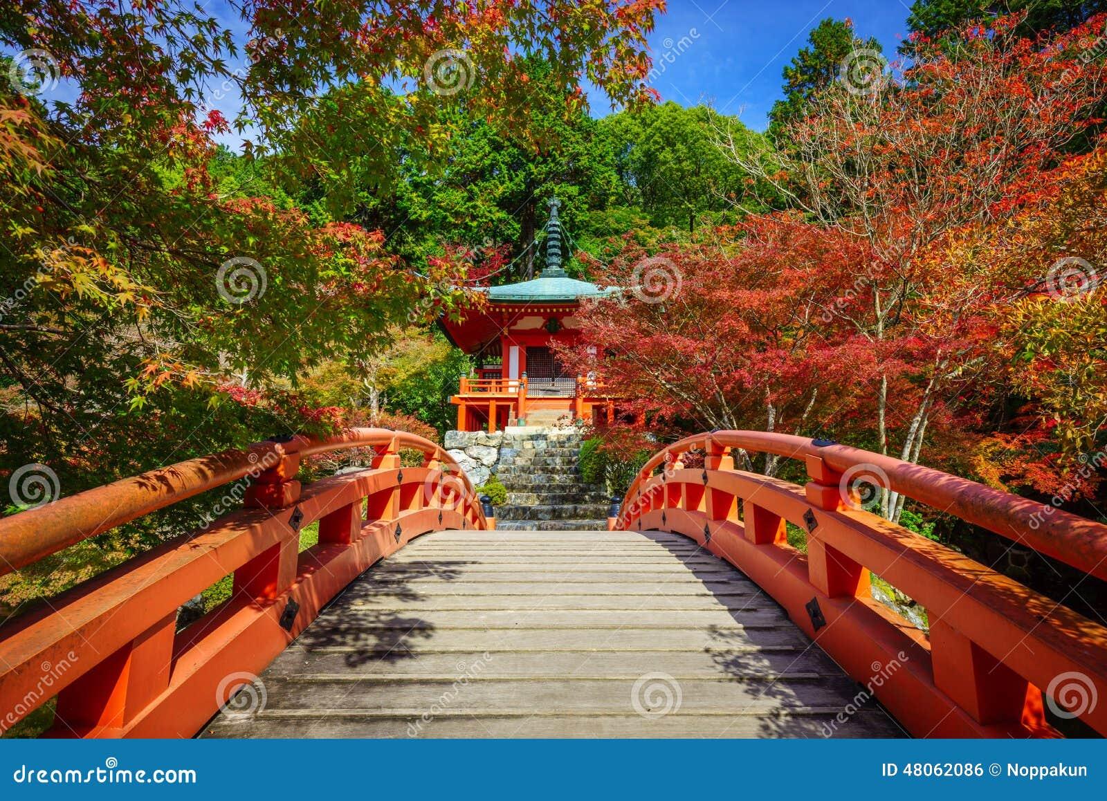 Templo en otoño, Kyoto, Japón de Daigoji