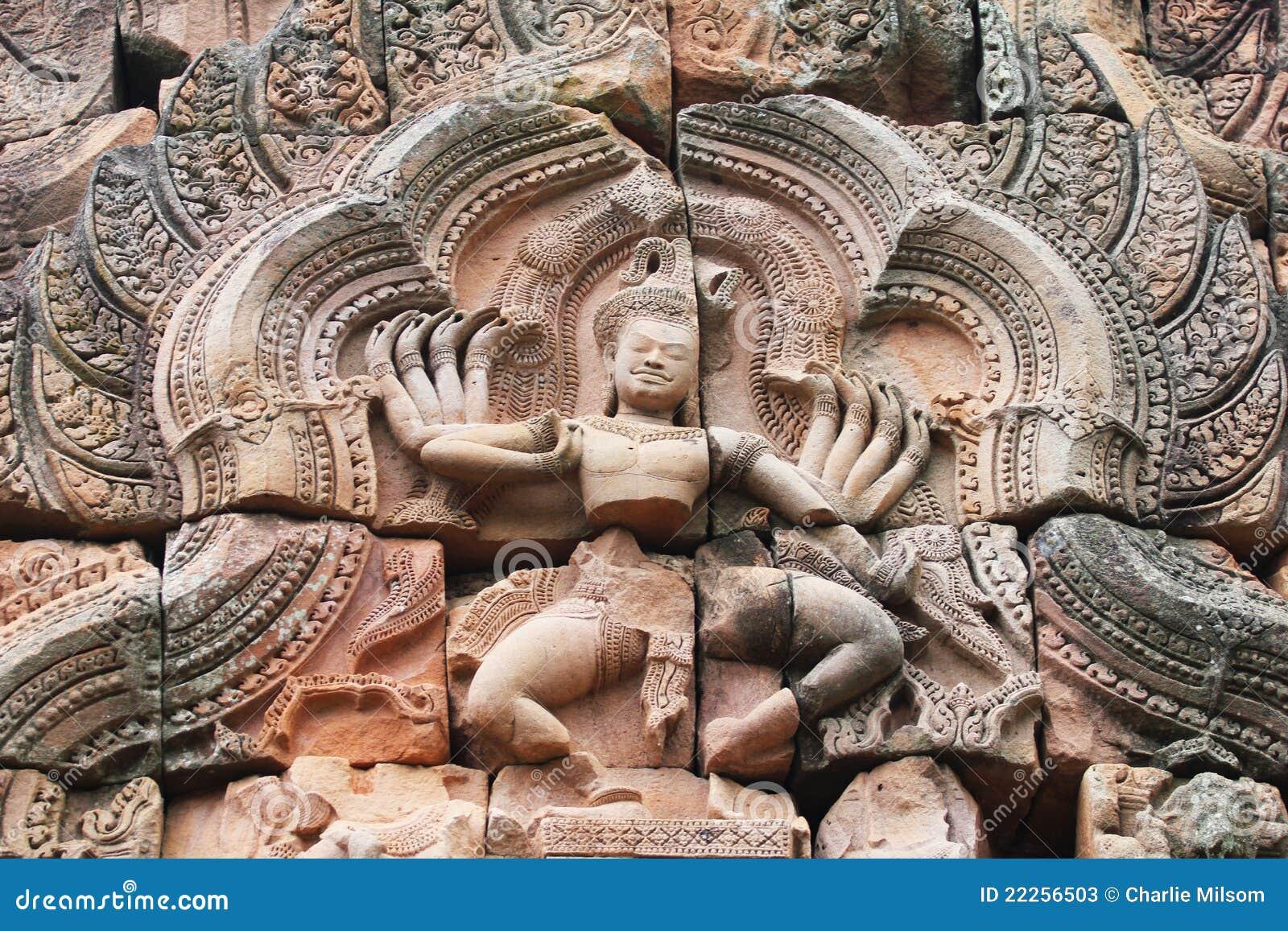 Templo na beira de Cambodia.
