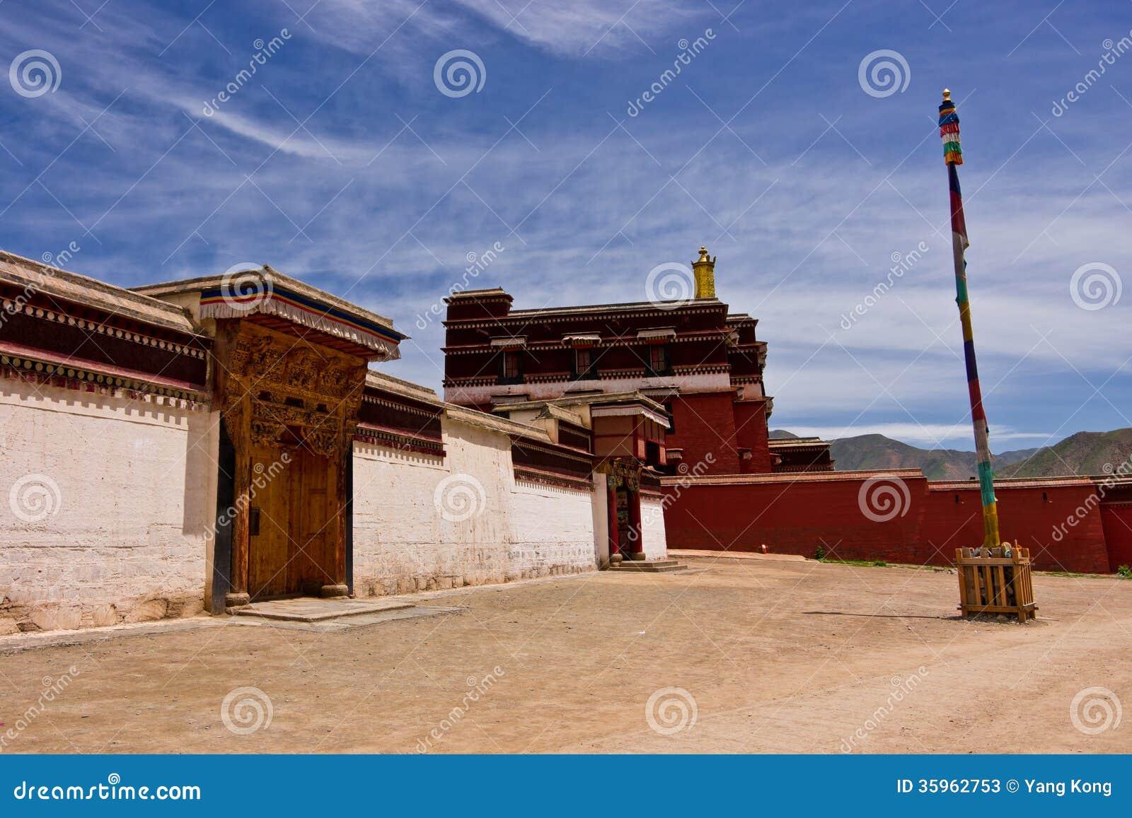 Templo tibetano del tibetano de la arquitectura