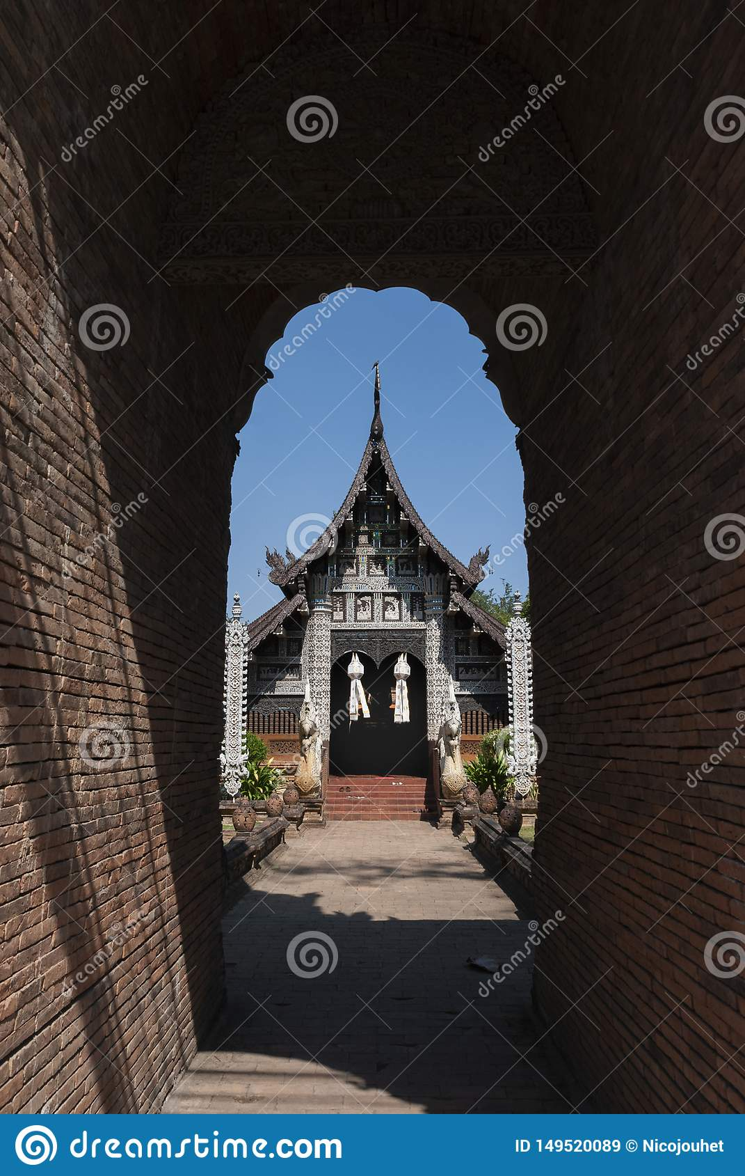 Templo Wat Lok Molee en Chiang Mai, Tailandia