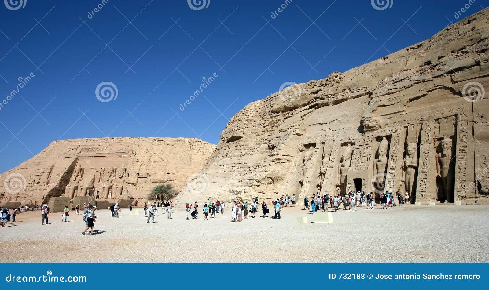 Templo y abu de Nefertari simples