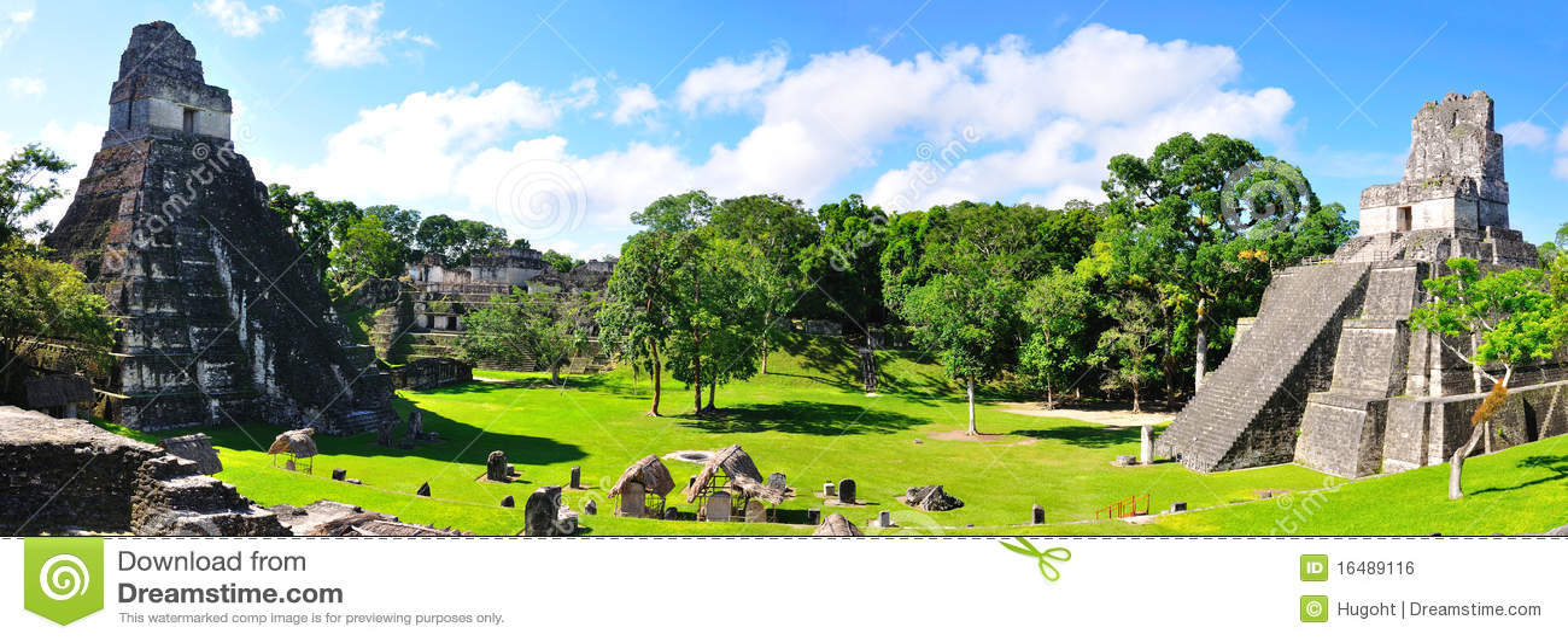 Templos antiguos del maya de Tikal, Guatemala