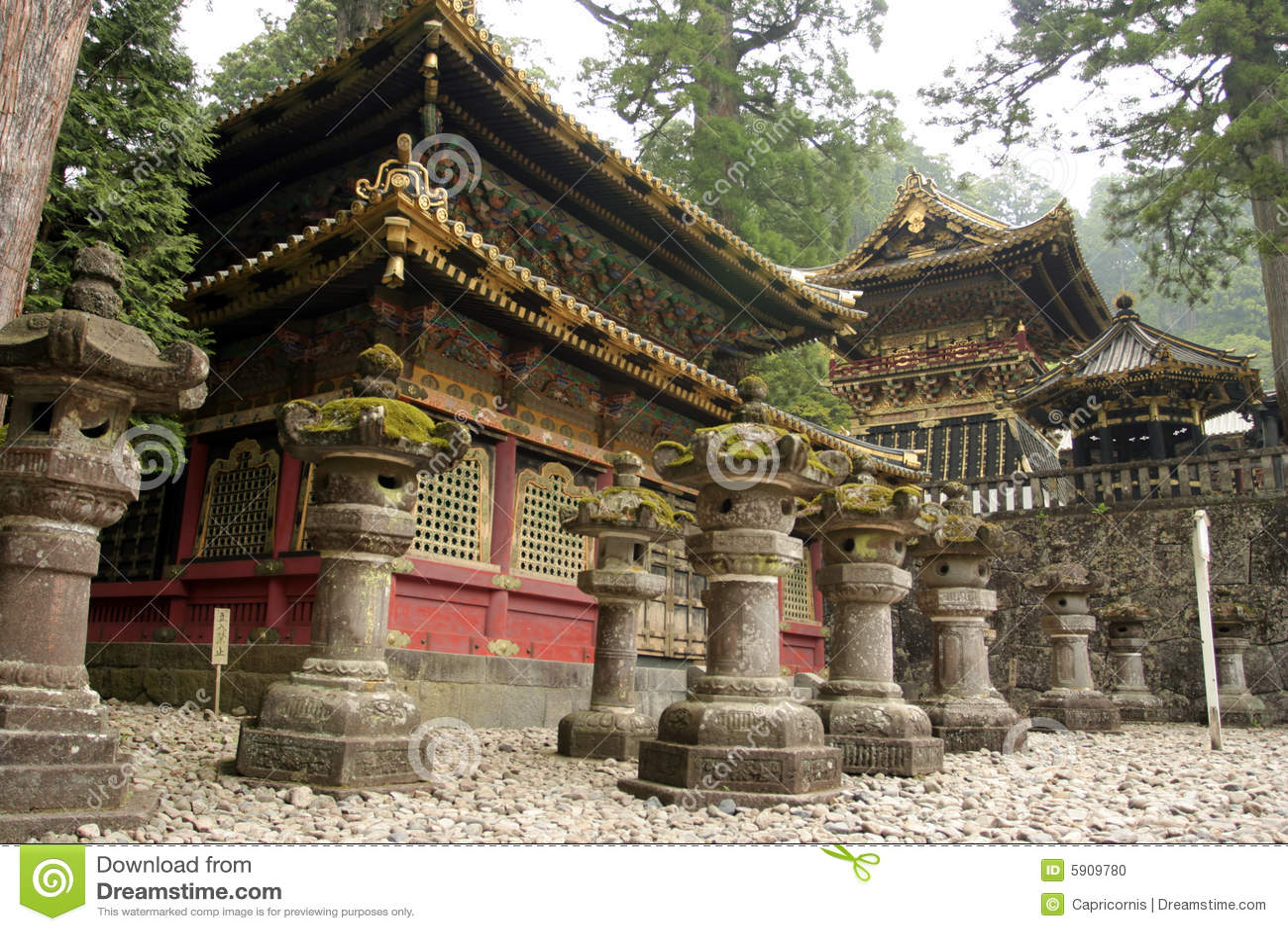 Templos budistas xintoísmos japoneses em Nikko