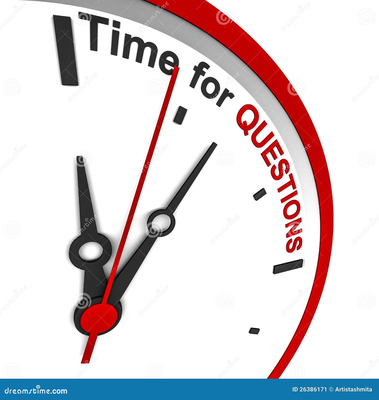 Tempo de perguntas