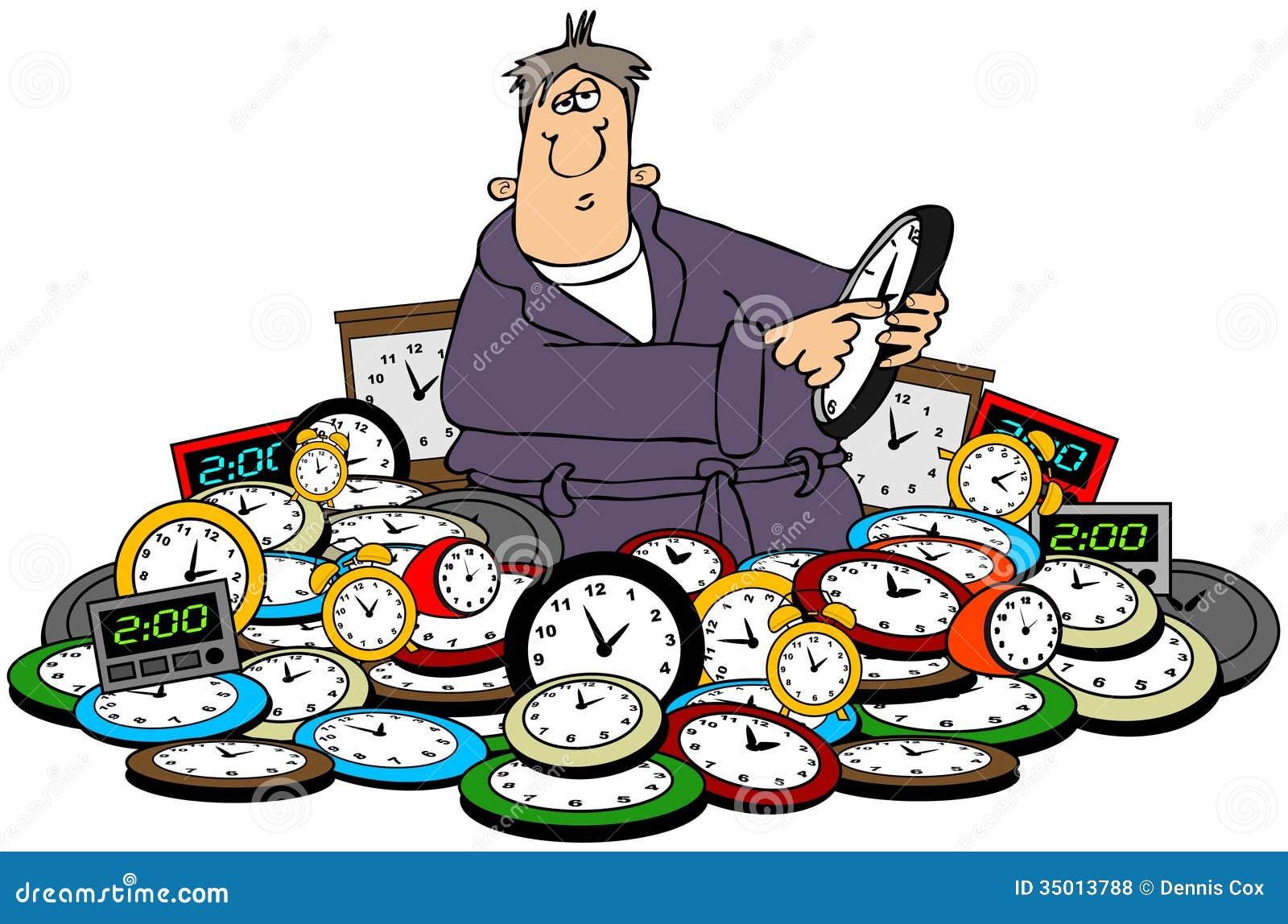 Tempo della regolazione dell uomo sugli orologi