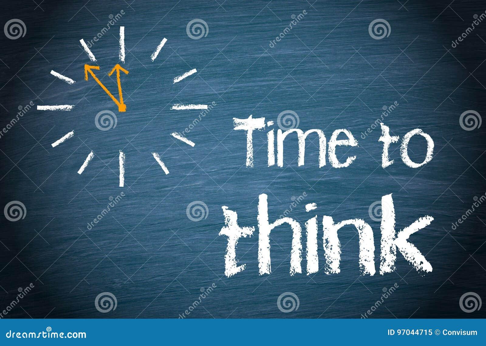 Tempo di pensare - concetto di affari con l orologio ed il testo