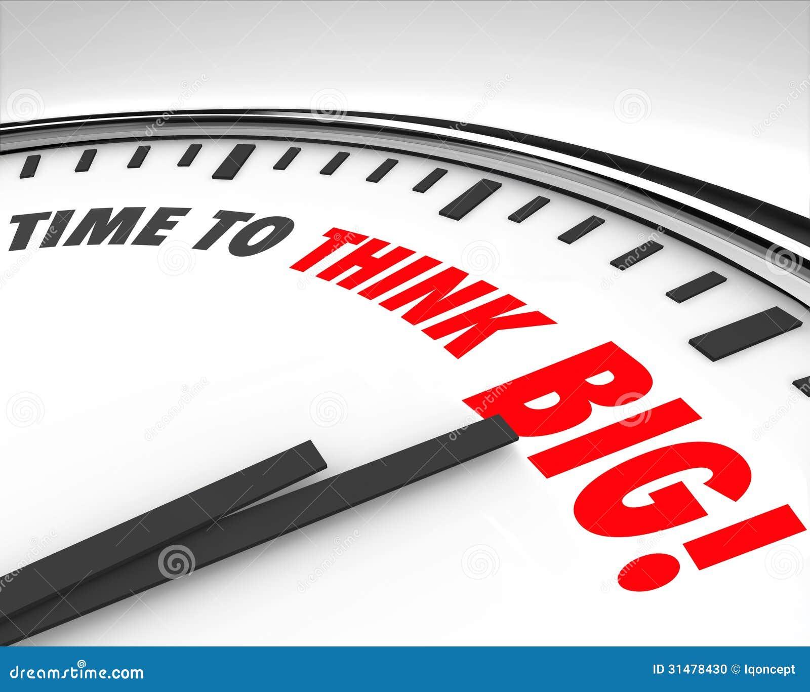 Tempo di pensare grande  brainstorming  dell innovazione di creatività dell orologio