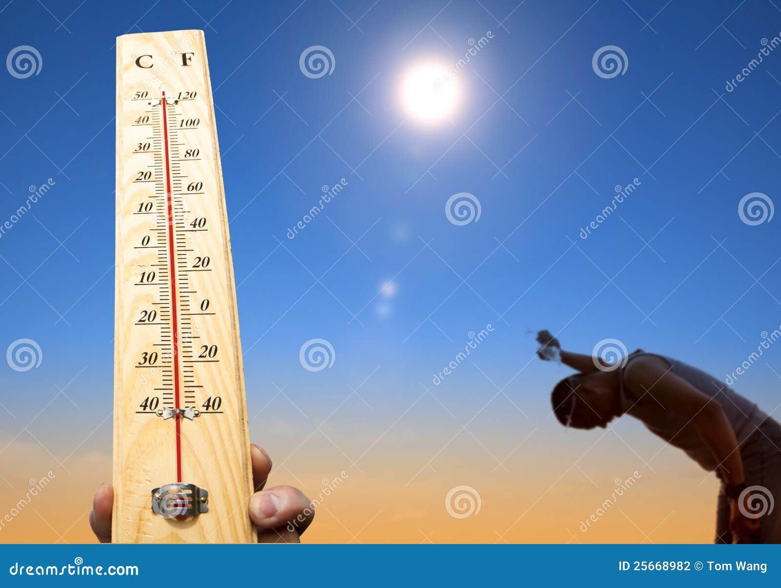 Tempo do calor e céu do verão