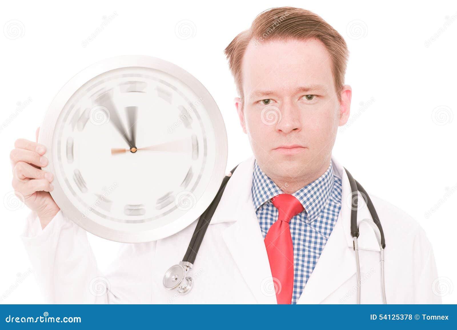 Tempo médico sério (o relógio de giro entrega a versão)